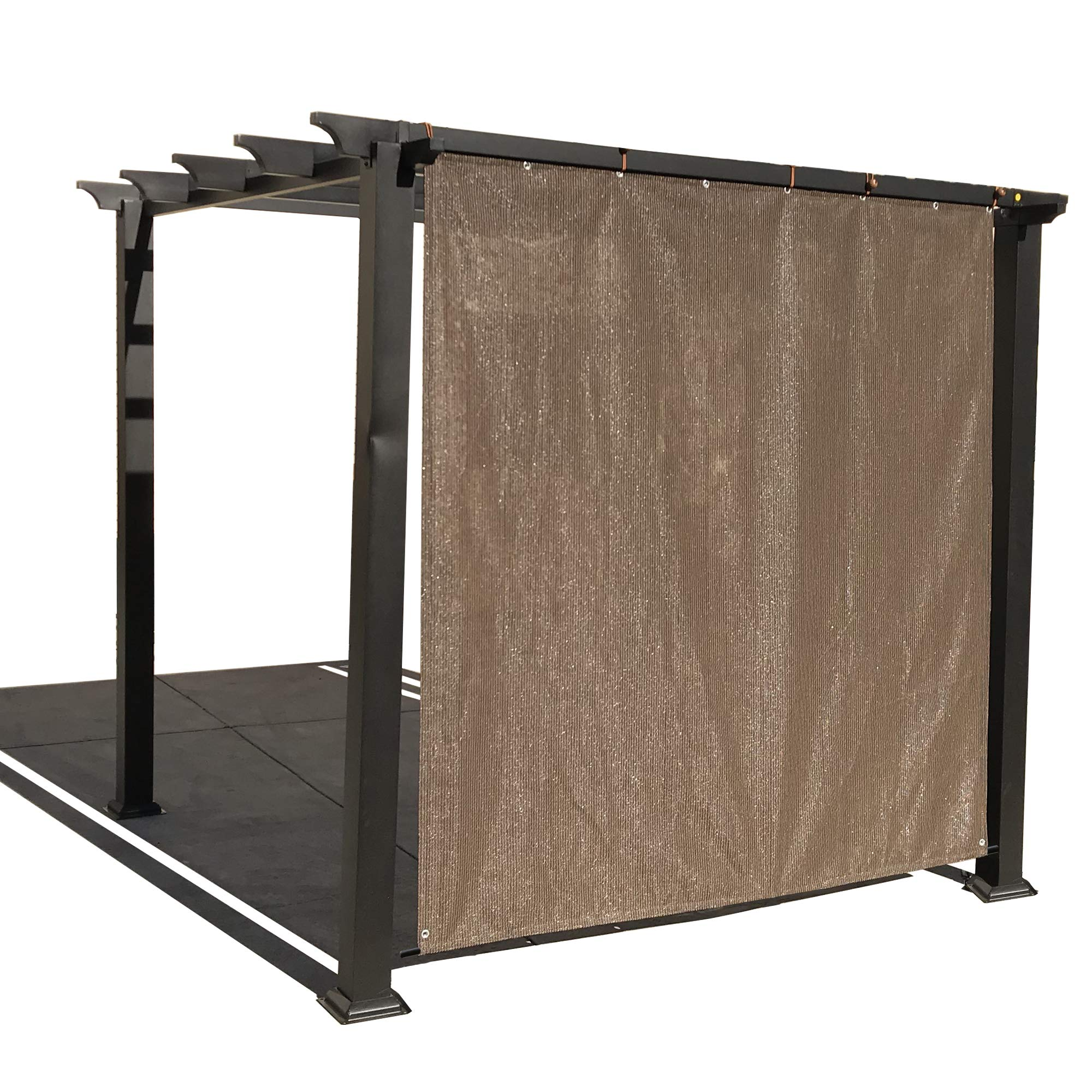 Alion casa Rod bolsillo parasol Panel con ojales de aluminio para Patio toldo, toldo, cubierta de ventana, Instant Pared lateral, pérgola o RV: Amazon.es: Jardín