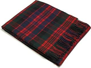 Bronte Throw Blanket - Tartan Throw - Merino Lambswool (Macdonald)