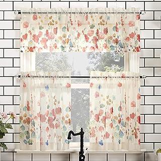 Floral Valences Curtains Drapes Home Kitchen
