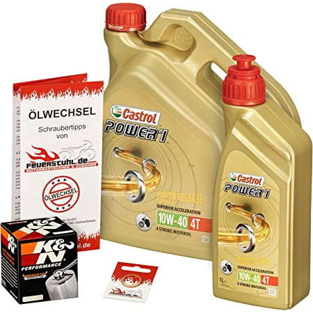 Castrol 10w 40 Öl K N Ölfilter Für Yamaha Xv 1600 Wild Star 99 04 Vp08 Ölwechselset Inkl Motoröl Filter Dichtring Auto