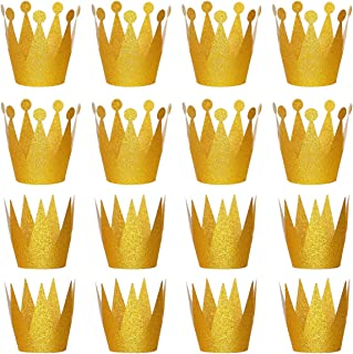 Gold Crown for Party with Elastic Ties, 24pcs by RUBFAC