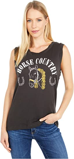 """Horse Country"" Seamed Back Muscle Tank"