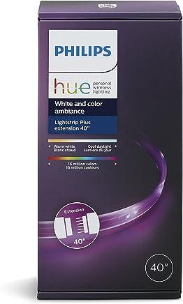 Philips Hue Extensão Fita de Led LightStrip Plus Smart (Requer Lightstrip Base & Hue Hub) - Compatível com Alexa, HomeKit e Google Assistant