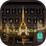 Gold Paris Tower Theme&Emoji Keyboard