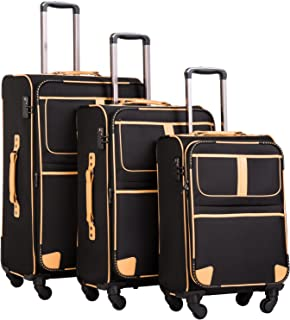 luggage with clothes
