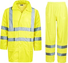 Shelikes Unisex Hi Viz Waterproof Rainsuit Set High Vis Visibility Jacket & Trouser