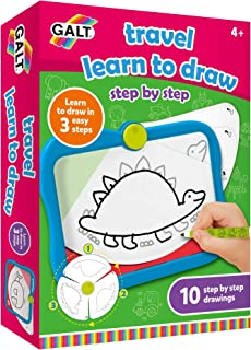 Galt Toys, Travel Learn to Draw, Step by Step Drawing Toy, Ages 4 Years Plus