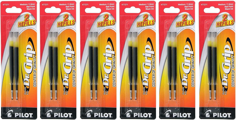 Value Pack of Gifts 6 - unisex Pilot Ink Grip Ballpoint Dr. Center Gravity