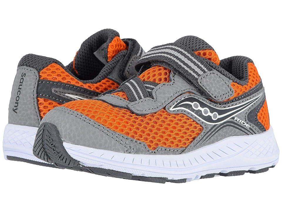 Saucony Kids Ride 10 Jr (Toddler/Little Kid) (Grey/Orange) Boys Shoes