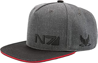 JINX Mass Effect N7 Special Forces Snapback Baseball Hat,  Charcoal Heather