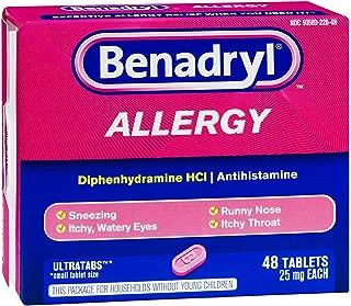 Benadryl Allergy Ultratabs , 48 CT (Pack of 6)