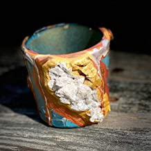 Small Succulent Planter Geode-Inspired White Pink Gold Bronze Teal Gold Votive Candle Holder