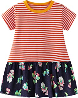 Kids' Clothes, Shoes & Accs. Sunny Girls Orange Cotton A Line Summer Dress Age 7-8 Years