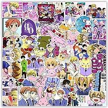 50Pcs Anime Ouran High School Host Club Sticker Japan Classic Anime Waterproof Decals Skateboard Sticker Laptop Suitcase