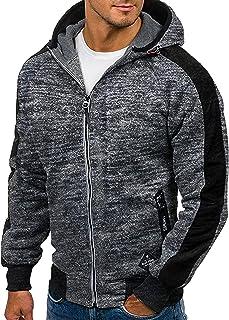Men Zipper Fleece Hooded Hoodie Long Sleeve Jacket Casual Hoody Jumpers Sweatshirt M-3XL