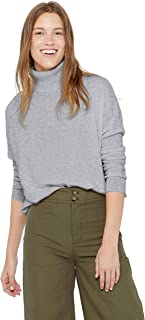 Oversized Turtleneck Tunic Sweater 100% Pure Cashmere Long Sleeve Pullover for Women