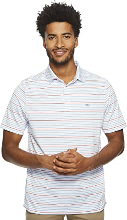 Vineyard Vines Golf Swindell Stripe Sankaty Performance Polo