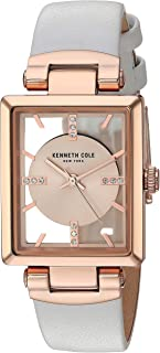 Kenneth Cole New York Women's Transparency Stainless Steel Japanese-Quartz Watch with Leather Strap, White, 15.2 (Model: KC50859003)
