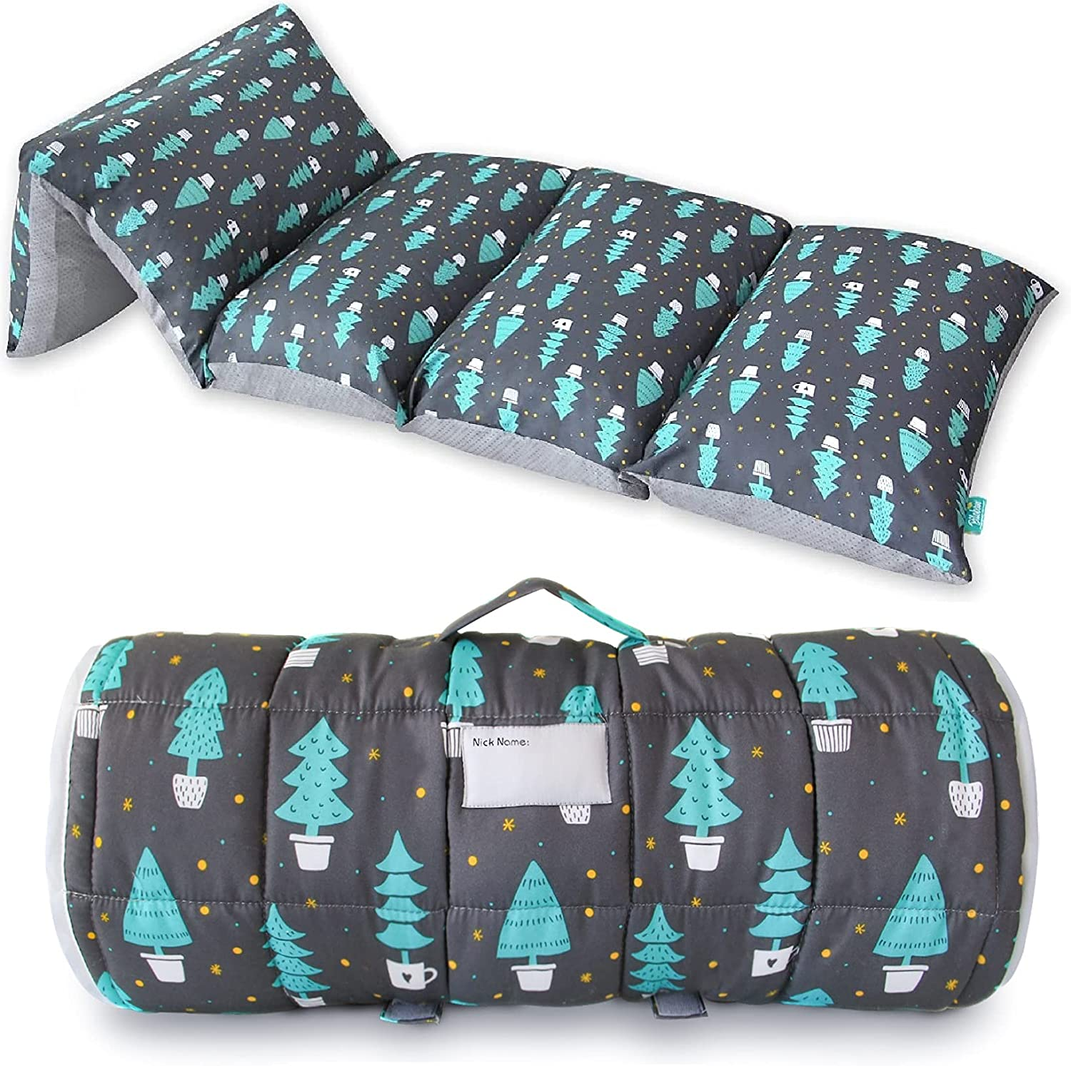 Toddler Nap Max 90% OFF Mat 5 Pillow for Max 76% OFF Woods Sleepover Cover Dark