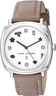 ساعة كوارتز للنساء من مارك جايكوبز XXIV، بشاشة عرض بانالوج وحزام جلد طراز MJ1563