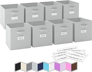 Boite de Rangement[Lot De 8] - Caisse Cube Pliable | Rangement Chaussures et Bureau | Bac Panier a Jouet | Parfait pour Ve...