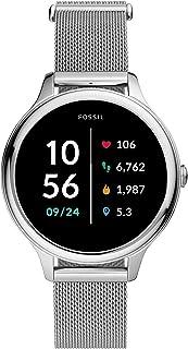 Fossil Reloj Inteligente para Mujer con Pantalla táctil, 5E, con Altavoz, frecuencia cardíaca, GPS, NFC y notificaciones d...