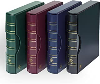 Lighthouse Blue Classic Grande 3-Ring Binder with Slipcase Storage Case for Coins, Stamps, Currency, Bank Notes, Documents, and Other Collectibles - Pages Sold Separately