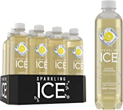 Sparkling Ice, Classic Lemonade Sparkling Water, with antioxidants and vitamins, Zero Sugar, 17 FL OZ Bottles (Pack of 12)