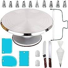 50 soportes giratorios de aleación de aluminio para tartas de 30,48 cm, kit de herramientas profesionales para decoración ...
