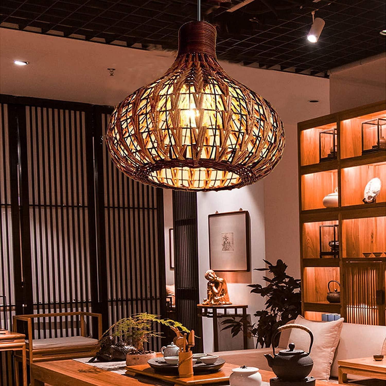 Bamboo Lantern Pendant Lamp Retro Arlington Mall E27 Japanese Chandelier Detroit Mall Style