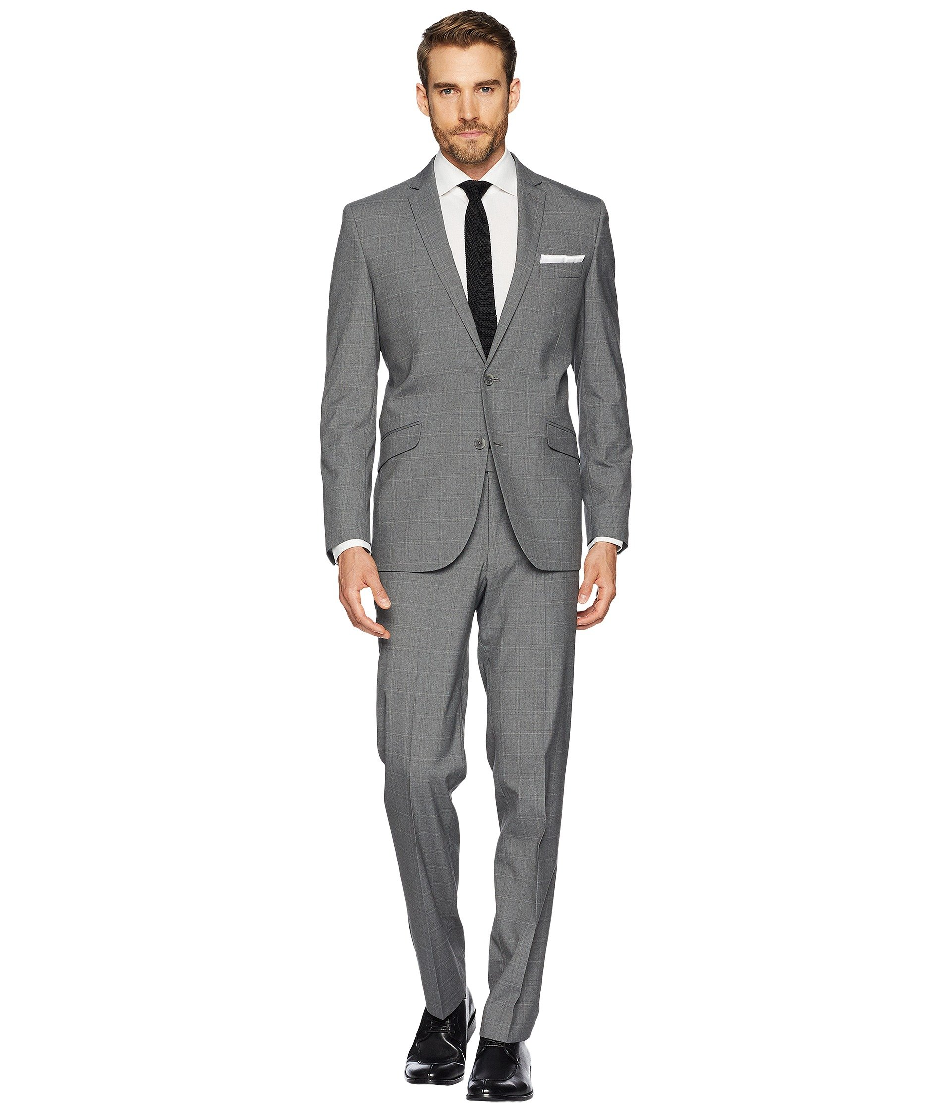 Vestido para Hombre Kenneth Cole Reaction Stretch Slim Fit Window Pane Suit  + Kenneth Cole Reaction en VeoyCompro.net