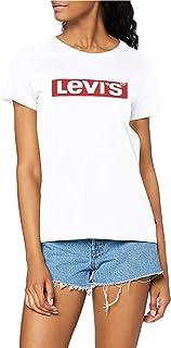 Levi's The Perfect Tee Maglietta, New Red Box Tab White, XXS Donna