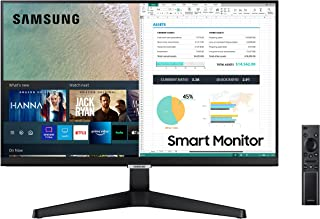 SAMSUNG 24-inch M5 Smart Monitor with Netflix, YouTube, HBO, Prime Video and Apple TV Streaming Tuner-less Tuner Free TV (...