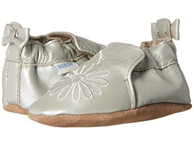Robeez Metallic Mist Soft Sole (Infant/Toddler) (Silver) Girls Shoes