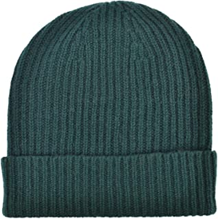 Cashmere Ribbed Beanie Hat Made In Scotland
