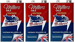 Millers Vintage Millerol 30 Aceite de Motor Monograde sin detergente, 15 litros