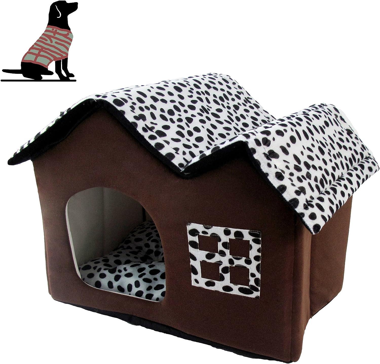 Pet Online Pet house shape removable cotton warm cat and dog pet nest, 55  40  42CM
