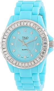 TKO ORLOGI Women's Ceramix-Ice Acrylic Crystallized Bezel Watch