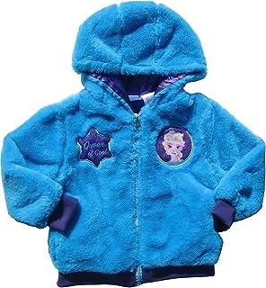b4bd37bc7 Amazon.com  C-Life Girls Disney Frozen Faux Fur Hoodie Jacket  Clothing