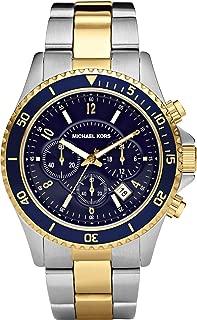 MK8175 Mens Jet Set Two Tone Steel Bracelet Chrono Watch