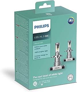 Philips Ultinon LED H4 Bulbs Set of 2X Bulbs 6200K +160% 11342ULWX2