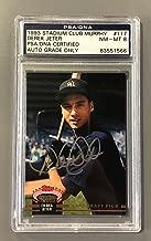 DEREK JETER SIGNED 1993 MURPHY ROOKIE CARD NEW YORK YANKEES Auto MINT 8 - PSA/DNA Certified - 5