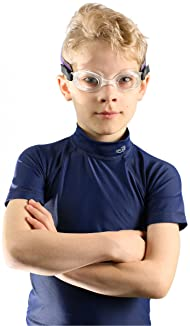 Frogglez Kids Swim Goggles with Pain-Free Strap | Ideal for Ages 3 – 10 in Swimming Lessons | Leakproof, No Hair Pull...