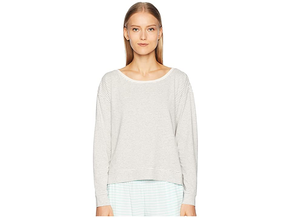 Skin Natural Skin Maia Pullover (Heather Grey/Pearl Pink Stripe) Women
