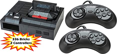 Genesis Retro Brick Raspberry Pi 4B, 3B, 3B+, 2B Case (336 Bricks), RetroPie with 2X Sega Genesis Controllers