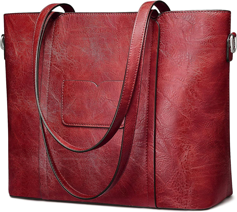 S-ZONE Credence Women Tote Shoulder Bag Ladies F Ranking TOP3 Work Handbag Purse Large