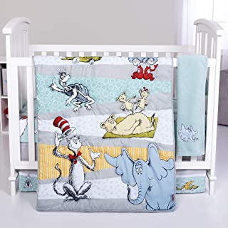 Trend Lab Dr. Seuss Book Club 4Piece Crib Bedding Set