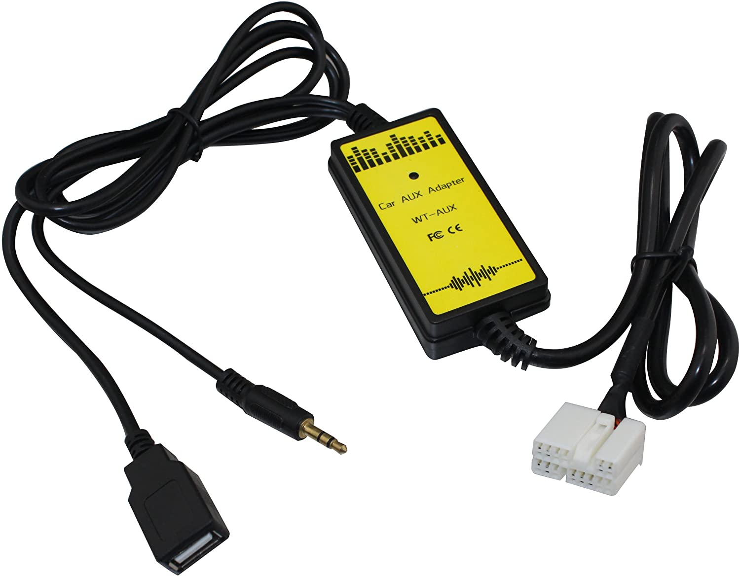 USB Aux Interface Adapter free Charge for Cable Honda 2003-201 excellence Accord