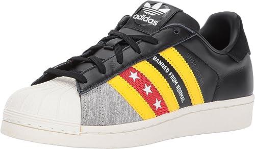 Adidas Originals Wohommes Superstar RO Running chaussures, Cnoir Eqtyel Oblanc, (6.5 M US)
