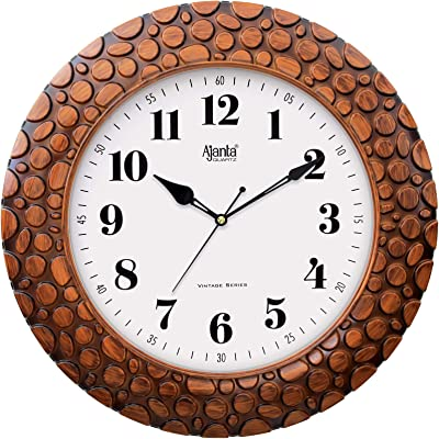 Ajanta Quartz Vintage Plastic Wall Clock for Home and Offices , 14 Inch
